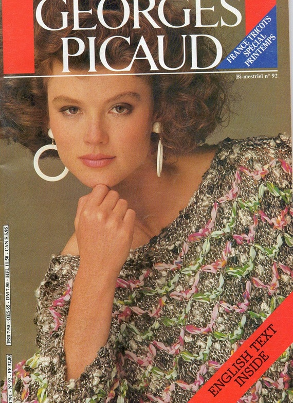 Georges Picaud no 92 36 French Designer Knitting Patterns Vintage 1980s