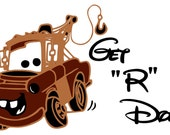 Mater from Disney Movie Cars  Vinyl Wall Art
