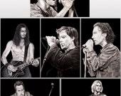 Grunge Music postcard set of 6