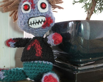 Dennis the Crocheted Zombie Doll