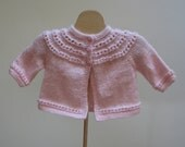 Baby Girl Sweater Pink  New Born Ready to Ship