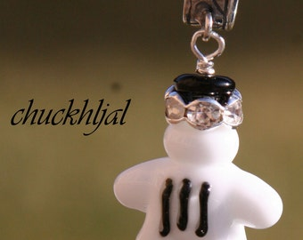 European Style Bracelet Charm DeSIGNeR Mickey Mouse Style White Glove Disney Inspired Lampwork Magic Pendant