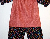 SALE! Ready to Ship.. 18M Kitty Kat Polka dot Ruffle Pants and Top outfit