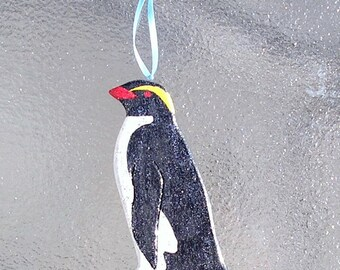 Penguin Ornament-Handcarved