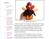 Toy Turkey Easy Crochet Pattern: Tudor Turkey Crochet Pattern (PDF) uses Worsted Weight Yarn - Original Design by The Silver Hook