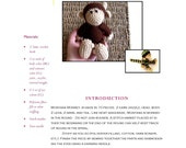 Easy Crochet Pattern: Large Montana Monkey Amigurumi Doll (PDF) in Worsted Weight Yarn Original Design by The Silver Hook
