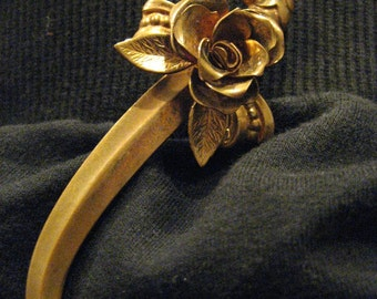 Shiver Me Timbers Signed Coro Brass Sword Pin