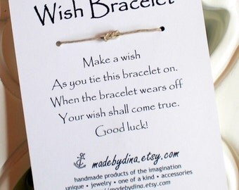 Sailor Knot Infinity Knot WISH BRACELET Wedding Favor Party Favor or Just for You