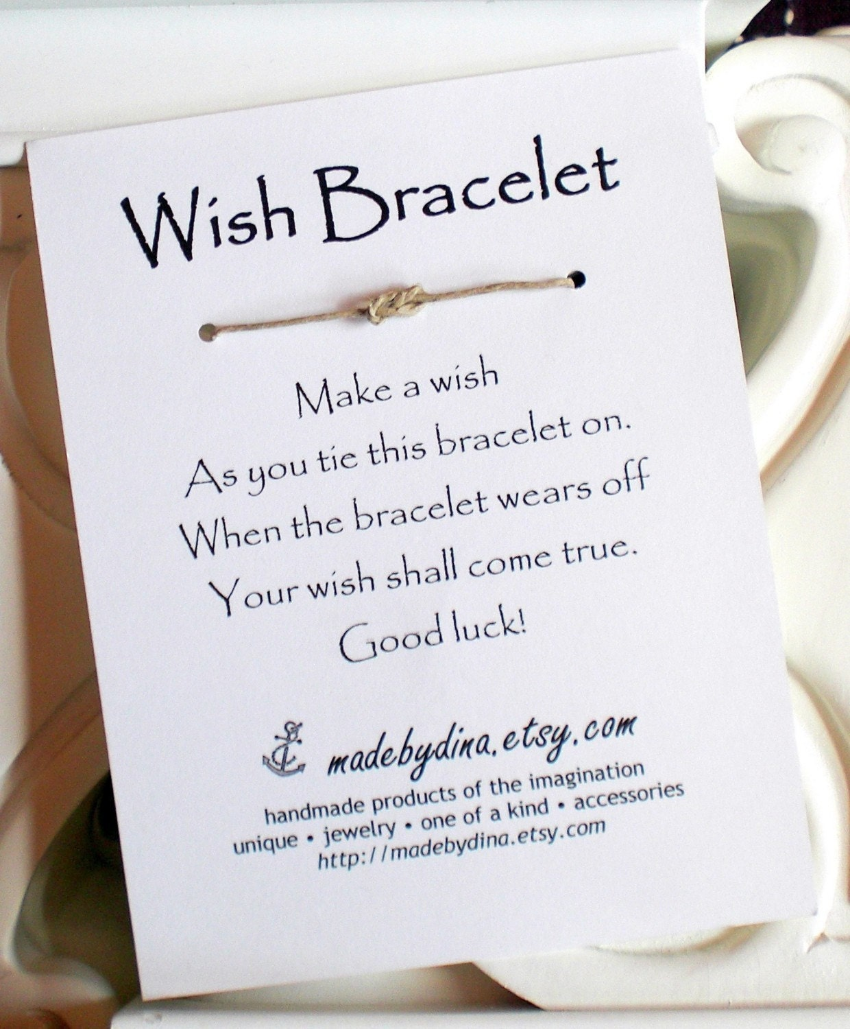 Bridal Shower Favor Sayings For Candy : Sailor Knot Infinity Knot WISH BRACELET Wedding Favor Party