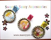 Disney Princess Bottle Cap Hair Clips - Your Choice of Character