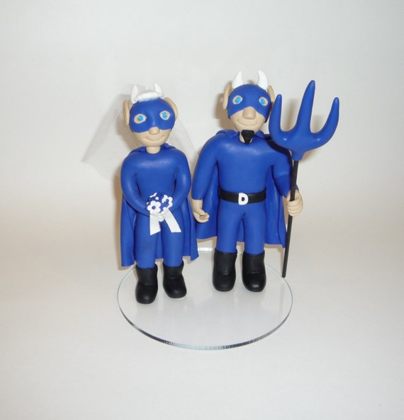 Mascot cake toppers blue devils, horny toad and razorback, hawk and hokie, wildcat and cardinal