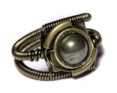 Steampunk Jewelry - Ring - Pyrite