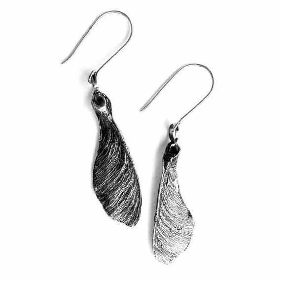 Sycamore Maple Seed Earrings