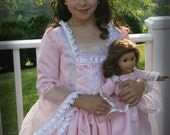 "Princess Gown with Matching American Girl 18"" Doll Dress Boutique Costume"