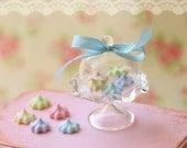 Dollhouse Miniature Food - Elegant Pastel Meringues