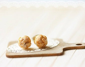 Food Jewelry - Profiteroles Earrings
