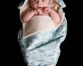 baby shower gift Organic Newborn Noonie -Serene Blue