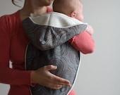 Modern Baby Gift Blanket - Organic Newborn Noonie- Cocoa Swirls