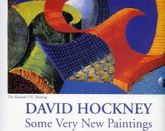 Abstract Art Print Book Plate - 'The 11th VN Painting' - 1990s Hardie Retrospective Exhibit Scotlan -UK English British Artist David Hockney