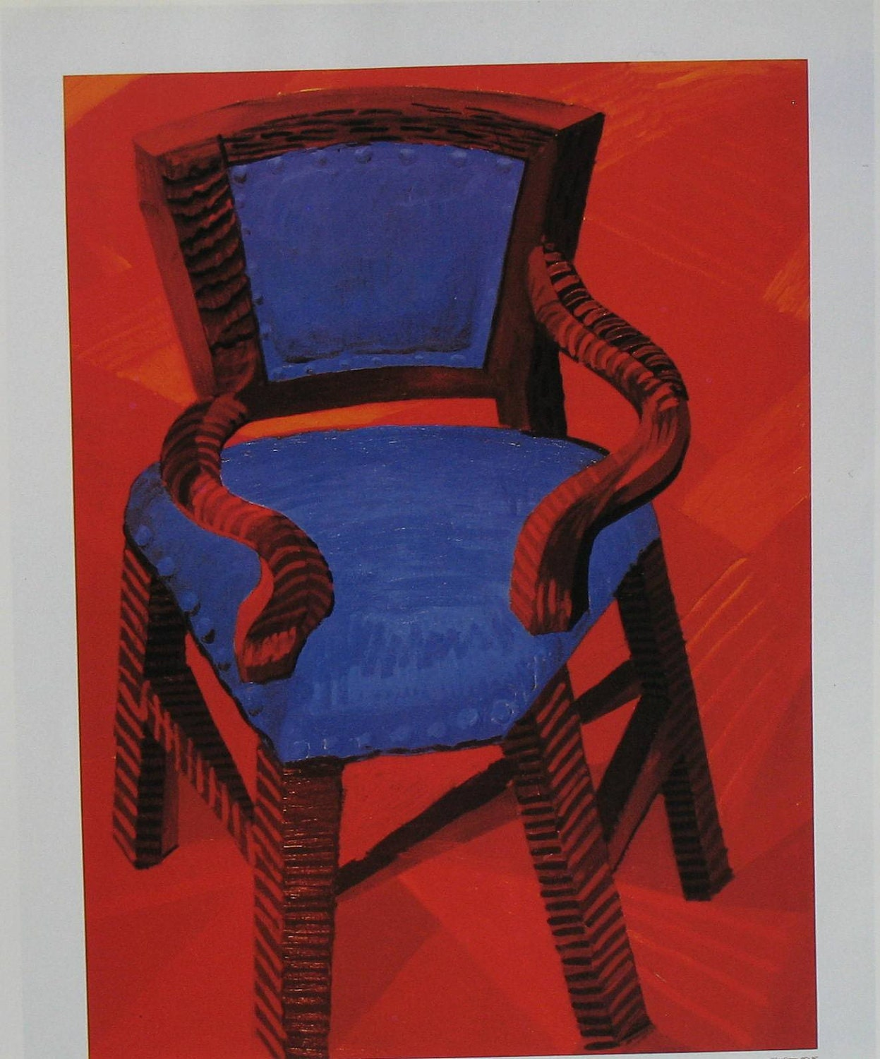 David Hockney Chair Drawings