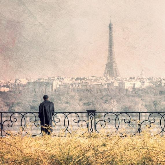 Paris photography, Eiffel Tower decor, Paris eiffel tower, Paris scene, Paris decor, Wall art, Paris art, yellow and gray