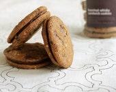 Hazelnut Whisky Sandwich Cookies, Chocolate Whisky Cookies