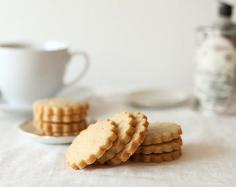 Honey Lavender Shortbread Cookies, Gourmet Tea Cookies, Shortbreads