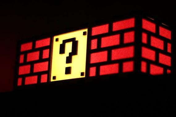 Colorful Mario Question Mark Block Lamp - Nintendo roots