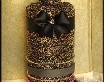 Cheetah ANIMAL Print Leopard Headband NeckLace Hair bow holder organizer bedroom decor display jewelry earring PRINCESS FrEe Shipping SALE