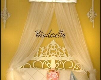 Cinderella Disney Bed Canopy Crown Princess Teester SaLe