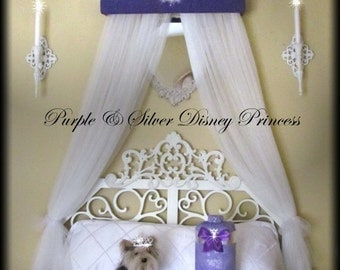 DiSnEy Crown Princess Padded Upholstered Bed Canopy SaLe