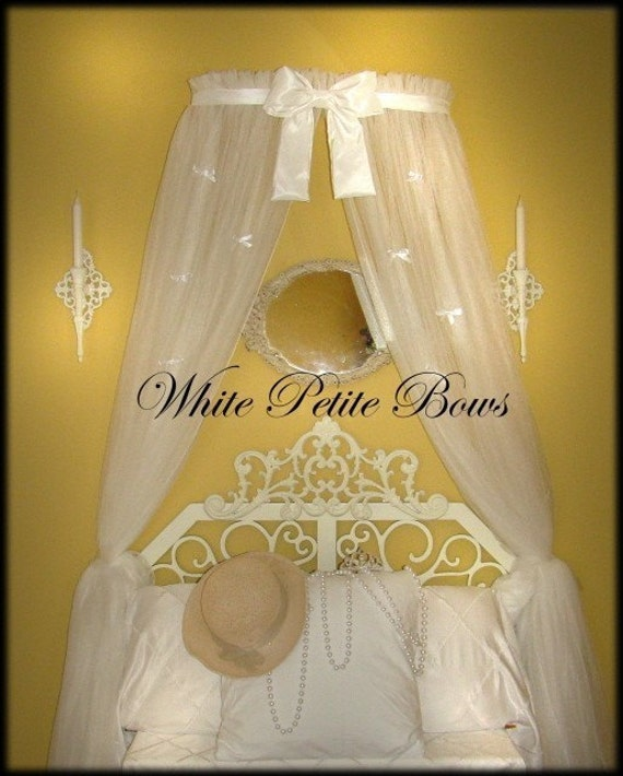 Princess Bed Canopy Crown With Curtains Included Sale White