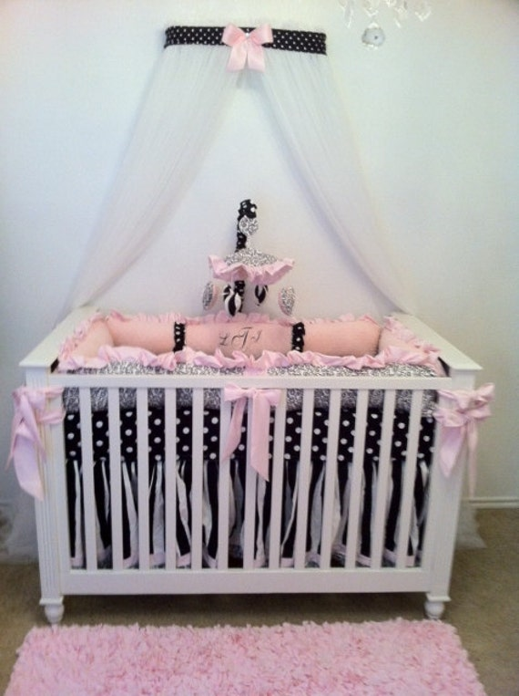 Crib Canopy Crown Nursery Princess Black White By