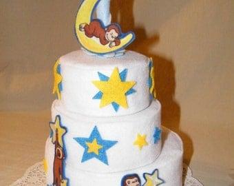 Curious George Theme felt toy cake