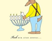 Adorable Dog Hanukkah Card set of 6 by She's SO Creative  (HC147-s6)