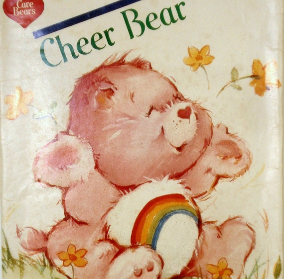 Vintage 1980s Care Bear Pattern Butterick 6230 Cheer Bear Factory Folded