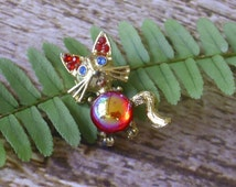 Vintage Jelly Belly Cat Pin Brooch