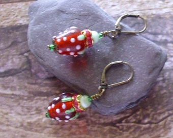 Ripe for the Picking Strawberry Earrings