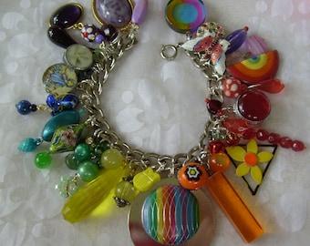 Rainbow Charm Bracelet OOAK