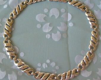 Vintage Elegant Monet Silver Necklace