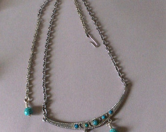 Vintage and New Turquoise Necklace