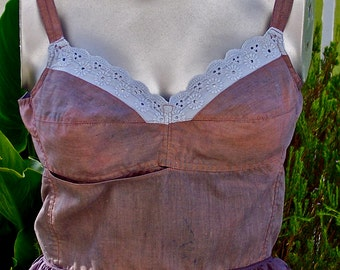 Vintage BULLET BRA Camisole Boho Small 34 A