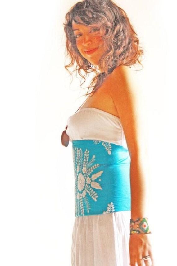 Mexican vintage crochet laces corset beautiful by aidacoronado