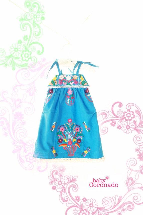 Baby coronado embroidered mexican dress by aidacoronado on