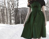 Green 1950s Dress with Bolero 50s Dress Vintage Inspired Dress