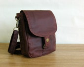 Waxed Canvas Pouch, Waxed Canvas Hip Bag, Waxed Canvas Bag - The Minus Hipster Plus in Chestnut Waxed Canvas