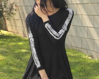 Skeleton arm organic dress