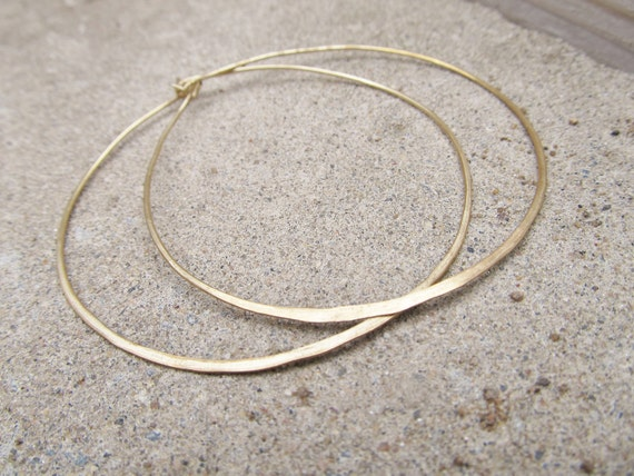 Hoop Earrings Handcrafted Jewelry Large Hoop Earrings Brass Hoops DanielleRoseBean Cyber Monday Etsy Free Shipping