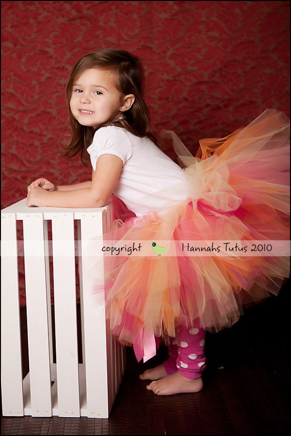 Ready2ship Toddler Tutu Carribean Sunset fits most 3 yr olds