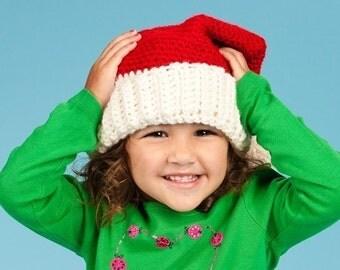 Santa Hat - Medium, Santa Claus, Photography Prop, Christmas Clothing, Children's Size Medium